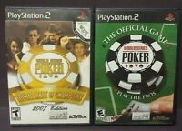 World Series of Poker + Tournament of Champions PS2 Playstation 2 Game Lot Works