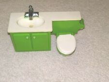Plastic Dollhouse Furniture, Bathroom Sink and Toilet Combination