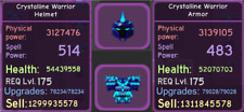 Roblox - Dungeon Quest - Enchanted Forest - Purple - Crystalline - Warrior Setup