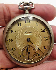 VINTAGE SWISS MERCADOR POCKET WATCH IN ILLINOIS WATCH CASE * NO RESERVE *