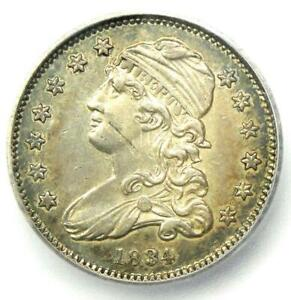 1834 Capped Bust Quarter 25C - ICG AU53 Details - Rare Early Date Certified Coin