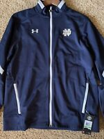 Notre Dame Irish Mens Under Armour Team Issued Zip Up Jacket Size Large NEW