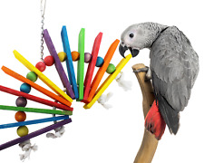 00702 Big Fan Bird Toy parrot cage toys cages african grey amazon conure