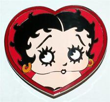 BETTY BOOP Classic Cartoon Character HEART Shape METAL BELT BUCKLE New