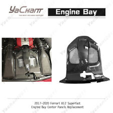 Dry Carbon Engine Bay Center Panels Replacement For 17-20 Ferrari 812 Superfast