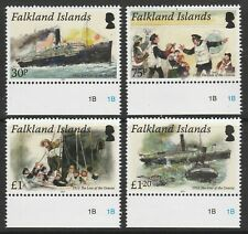 FALKLAND ISLANDS - 2012 CENTENARY OF THE LOSS OF THE ORAVIA & TITANIC MNH SET