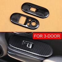 For Mini 2-Door F56 2015+ Carbon Fiber Window Switch Cover Interior Accessories