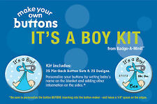 Badge-A-Minit - It's A Boy! Themed Make-Your-Own Button Kit New! #Tbk1