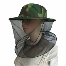 Mosquito Cap Mesh Net Veil Mask Fishing Camping Field Jungle Face Protect Hat