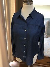 NEW Forever 21 Denim Button Down Shirt XS