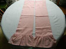1pr Vintage 1980's Sears Mauve Dusty Rose Tier Curtains