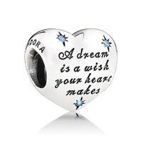 Authentic Pandora DISNEY CINDERELLA'S DREAM Heart charm Silver S925 791593CFL