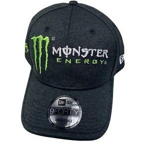 New Era 9Forty Monster Energy NASCAR Dark Gray Kurt Busch Adjustable Hat
