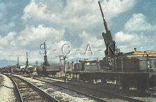 WWII Org Ger Color Postcard- Lithograph- Artillery- Cannon- Train- Railroad FLAK
