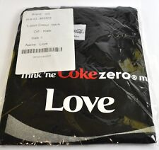 Coca-Cola Coke Amor Camiseta negra Tamaño L Nombre de pila con