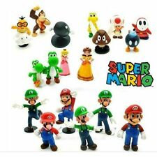 18pcs Super Mario Bros Action Figures Figurines Set Cake Topper Decor Kid Toy