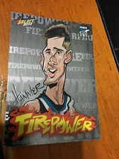 2013 AFL Champions Laserfoil Firepower Caricature FC40 H. Hartlett (Port Adel)