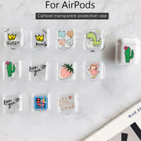 Fruit Animals PC Cover Skin For Phone Airpods Charging Case Holder Bag Earpho Js