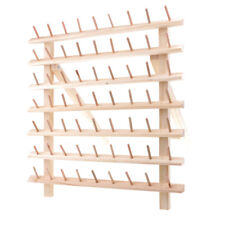 63 Spool Wooden Bobbin Thread Rack and Organizer for Sewing Quilting Tools