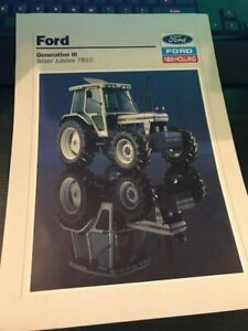 Ford 7810 Silver Jubilee Tractor Brochure Leaflet Poster - Very Rare