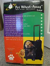 Pet -Wheel Away Pet Wheel Carrier/ Car seat/Bed/ Backpack Large Dark Blue