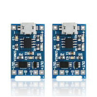 2PCS 5V Micro USB 1A 18650 Lithium Battery Charging Board Charger Module U87