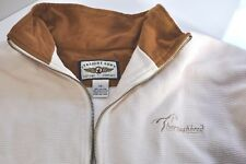 Vintage Straight Down Thoroughbred 1/4 zip mens pullover sweatshirt size L Usa
