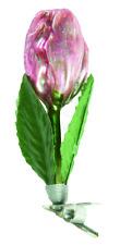 sehr schöne Tulpe auf Zwicker nostalgischer Christbaumschmuck Lauscha Handbemalt