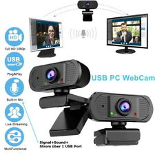 ComSys 1080P USB 2.0 3.0 HD 12MP HD Webcam Kamera Mikrofon für PC Laptop Mac OVP