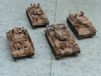 Roco Minitanks Pro Painted WWII German DAK Armored Tiger Tank Platoon Lot #367x