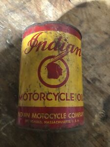 Vintage Indian Motorcycles Full Oil Can From The 1920's