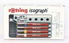 Rotring Isograph 4 Pen Set with Stand - 0.25/0.35/0.5/0.7mm NEW