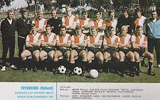 FEYENOORD FOOTBALL TEAM PHOTO>1970-71 SEASON