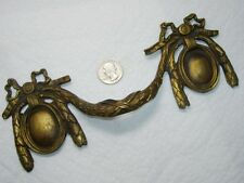 XL~Fancy Antique Brass/Bronze Handle Pull~Cartouche Garland Ribbon Bows 8.5""