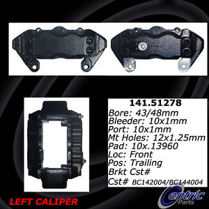Frt Left Rebuilt Brake Caliper With Hardware Centric Parts 141.51278
