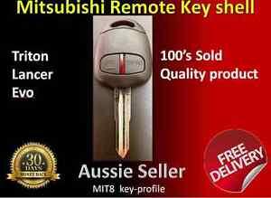 MIT8 Mitsubishi Triton Pajero challenger  Evo 2 Button Remote Car Key Shell