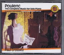 POULENC 3 CDS SET NEW THE COMPLETE SOLO PIANO MUSIC PAUL CROSSLEY