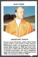 1971 CHEVRON TOUCHDOWN CARDS CFL FOOTBALL B C LIONS BUD TYNES NM IOWA HAWKEYES