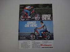 advertising Pubblicità 1982 CIMATTI GRINGO 50 4 MARCE/MONOMARCIA