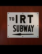 1930s Ind Irt Lines New York Subway Sign
