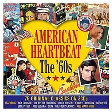 American Heartbeat The 60s Roy Orbison Sam Cooke Dion Del Shannon +More 3 Cd Set