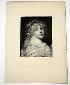 "1882 Etching entitled: ""My Child-Sweetheart"" Etched by E. Forberg"