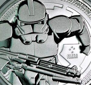 1 oz .999 Fine Silver Bullion STAR WARS CLONETROOPER Coin 2019 in cap #655