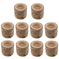 10pcs Tree Branch Wooden Tealight Candle Holder for Werdding Decor 6cm