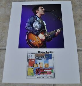 """Kelly Jones Signed CD Booklet Mounted With 10""""x8"""" Photo Stereophonics With COA#2"""