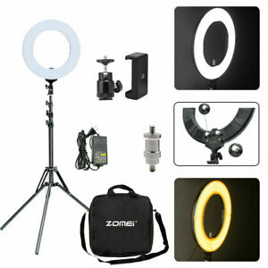 "US 14"" Ring LED Dimmable Light AdjustableAdapter Lighting Photography 5500K"