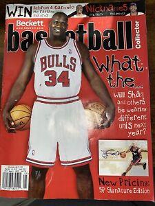 Beckett Basketball Magazine Shaquille O' Neal In Bulls Uniform May 2094