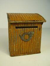 Antike Spardose Blech Briefkasten um 1900