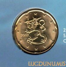 Finlande 2002 - 20 Centimes d'Euro BU FDC provenant du coffret 8000 exemplaires