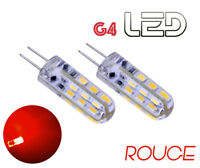 2 ampoules G4 360° 24 LED ROUGE Intérieur éclairage Camping Car Bateau Caravane